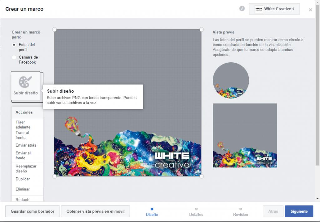 Como personalizar un marco de perfil en Facebook